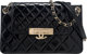 "Chanel Black Quilted Patent Leather Golden Class Flap Bag with Gold Hardware Condition: 3 11"" Width x 6.5"" Hei..."