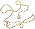 """Luxury Accessories:Accessories, Chanel Iconic Pearl Belt. Condition: 2. 32.5"""" Length. ..."""