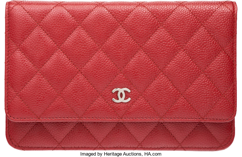 ... Luxury Accessories Bags, Chanel Red Quilted Caviar Leather Wallet on Chain  Bag with SilverHardware ... 3a8d87ff02