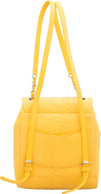 ed2c793393b3 Condition: Luxury Accessories:Bags, Chanel Matte Yellow Python Small Urban  Spirit Backpack.