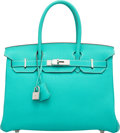 """Luxury Accessories:Bags, Hermes 30cm Lagon Togo Leather Birkin Bag with Palladium Hardware. K Square, 2007. Condition: 2. 12"""" Width x 8"""" He..."""