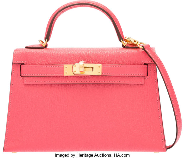 0219c65517f31e ... Luxury Accessories:Bags, Hermes 20cm Rose Lipstick Chevre Mysore Mini  Kelly Bag with GoldHardware ...