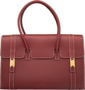 """Luxury Accessories:Accessories, Hermes 37cm Rouge H Chamonix Leather Drag Bag with Gold Hardware. D Square, 2000. Condition: 3 . 14.5"""" Width x 9"""" Height x..."""