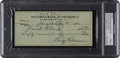 Baseball Collectibles:Others, 1944 Harry Heilmann Signed Check to Heinie Manush, PSA/DNA Authentic. . ...