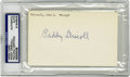Football Collectibles:Balls, Paddy Driscoll Signed Index Card PSA Authentic. Named to the NFL 1920's All-Decade Team and a member of the Pro Football Ha...