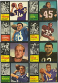 Football Cards:Sets, 1962 Topps Football Complete Set (176). Offered is a middle grade1962 Topps Football set. Key rookie cards include Fran Tar...