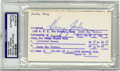 Football Collectibles:Balls, Henry Jordan Signed Index Card, PSA Authentic. A defensive tackle who played for only two teams during his career, Jordan wa...