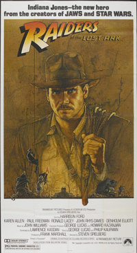 "Raiders of the Lost Ark (Paramount, 1981). Three Sheet (41"" X 76""). Adventure"