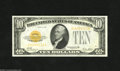Small Size:Gold Certificates, Fr. 2400 $10 1928 Gold Certificate. Choice Crisp Uncirculated. Embossing is found on this nicely margined $10 Gold that has...