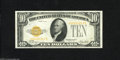 Small Size:Gold Certificates, Fr. 2400 $10 1928 Gold Certificate. About Uncirculated. This note screams originality as the embossing is in your face and ...