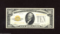 Small Size:Gold Certificates, Fr. 2400 $10 1928 Gold Certificate. Extremely Fine. A decent gold certificate that appears to have been pressed at some poi...