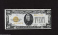 Small Size:Gold Certificates, Fr. 2402 $20 1928 Gold Certificate. Very Fine. Bright gold overprints adorn this snappy note....