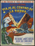 "Movie Posters:Science Fiction, Journey to the Center of the Earth (20th Century Fox, 1959).Argentinean Poster (29"" X 43""). Science Fiction...."