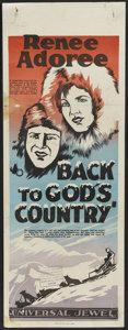 "Movie Posters:Action, Back to God's Country (Universal, 1927). Pre-War Australian Daybill(15"" X 40""). Action...."