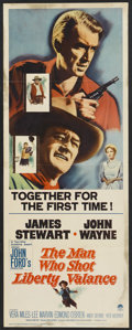 """Movie Posters:Western, The Man Who Shot Liberty Valance (Paramount, 1962). Insert (14"""" X 36""""). Western...."""