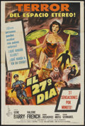 """Movie Posters:Science Fiction, The 27th Day (Columbia, 1957). Argentinean Poster (29"""" X 43.5""""). Science Fiction...."""
