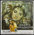 "Movie Posters:Drama, Green Mansions (MGM, 1959). Six Sheet (81"" X 81""). Drama...."