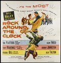 "Movie Posters:Rock and Roll, Rock Around the Clock (Columbia, 1956). Six Sheet (81"" X 81""). Rockand Roll...."
