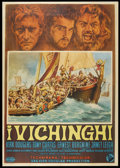 "Movie Posters:Action, The Vikings (United Artists, 1958). Italian 4 - Folio (55"" X 78"").Action...."