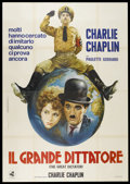 """Movie Posters:Comedy, The Great Dictator (United Artists, R-1960). Italian 4 - Folio (55""""X 78""""). Comedy...."""