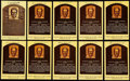 Autographs:Post Cards, Earl Averill Signed Hall of Fame Plaque Postcard Collection(10)....