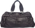 """Luxury Accessories:Accessories, Chanel Purple Leather Tote. Condition: 4. 9' Height x 15.5"""" Width x 7.5"""" Depth. ..."""