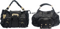 """Luxury Accessories:Bags, Set of 2: Yves Saint Laurent Black Leather and Dolce & GabbanaBlack Leather bags. Condition:4. Yves Saint Laaurent- 11"""" H...(Total: 2 Items)"""