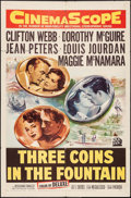 """Movie Posters:Romance, Three Coins in the Fountain (20th Century Fox, 1954). One Sheet (27"""" X 41""""). Romance.. ..."""