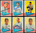 "Autographs:Sports Cards, Signed 1961 Fleer ""Baseball Greats"" Collection (6). ..."