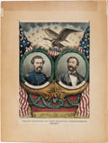 Political:Posters & Broadsides (pre-1896), Frémont & Cochrane: An Exceptional 1864 Grand National Banner. ...