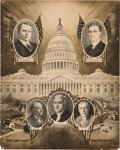 Political:Posters & Broadsides (1896-present), Cox & Roosevelt: Capitol Dome Jugate Poster....