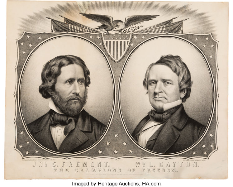 Frémont & Dayton: Exceedingly Rare and Important 1856