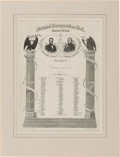 Political:Inaugural (1789-present), Lincoln & Johnson: Impressive Jugate 1865 Official InauguralInvitation....
