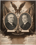 Political:Posters & Broadsides (1896-present), Harding & Coolidge: A Striking 1920 Jugate Campaign Poster....