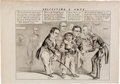 Political:Small Paper (pre-1896), Sam Houston, Henry Clay et al: Circa 1852 Campaign Cartoon....