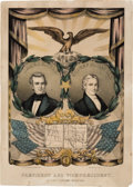 Political:Posters & Broadsides (pre-1896), Polk & Dallas: Jugate Grand National Banner with Texas Iconography. ...