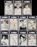 Autographs:Post Cards, Hall of Fame Signed Postcard Lot of 11, PSA/DNA Encapsulated.. ...