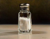 Ralph Goings (b. 1928) Salt Shaker, 2001 Oil on canvas 11 x 14 inches (27.9 x 35.6 cm) Signed