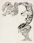 Animation Art:Production Drawing, Scooby-Doo and Friends Publicity Illustration by Jack Manning (Hanna-Barbera, 1974)....