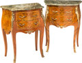 Furniture , A Pair of Louis XV-Style Diminutive Bombé-Form Commodes, early 20th century. 30-1/8 h x 23-1/4 w x 14-1/2 d inches (76.5 x 5... (Total: 2 Items)