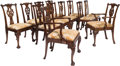 Furniture , Twelve George III Mahogany Dining Chairs, 18th century. 37-3/4 h x 23 w x 22 d inches (95.9 x 58.4 x 55.9 cm). PROPERTY FR... (Total: 12 Items)
