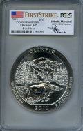 Modern Bullion Coins, 2011 25C Olympic Five-Ounce Silver, First Strike, Mercanti Signature MS69 Deep Mirror Prooflike PCGS. PCGS Population: (2/0...