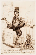 Alfred Ashley The Manx Man Original Art (c. 1841-53) Comic Art
