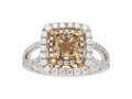 Estate Jewelry:Rings, Colored Diamond, Diamond, Gold Ring . ...