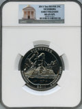 Modern Bullion Coins, 2011 25C Vicksburg Five-Ounce Silver, Early Releases MS69 Deep Mirror Prooflike NGC. PCGS Population: (1...