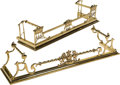 Decorative Arts, Continental, Two English and Continental Brass Fire Fenders, late 19th/ early20th century. 49-1/4 inches long (125.1 cm) (longest). PR...(Total: 2 Items)