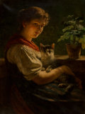 Paintings, Rudolf Epp (German, 1834-1910). Best friends, 1896. Oil on canvas. 32-1/4 x 24-1/4 inches (81.9 x 61.6 cm). Signed and d...