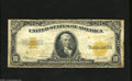 Large Size:Gold Certificates, Fr. 1173 $10 1922 Gold Star Certificate Good-Very Good. The face is brighter than the back on this $10 Gold Star that has cl...