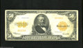 Large Size:Gold Certificates, Fr. 1200a $50 1922 Mule Gold Certificate Fine. All Fr. 1200a's areMules, with this note having back plate number 8 position...