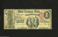National Bank Notes:Maine, Lewiston, ME - $1 1875 Fr. 383 The First NB Ch. # 330 This Ace hasa clear central vignette. It also has pinholes and a...